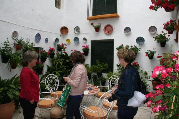 Visita del jurado de los patios, rincones y balcones de Luque año 2015