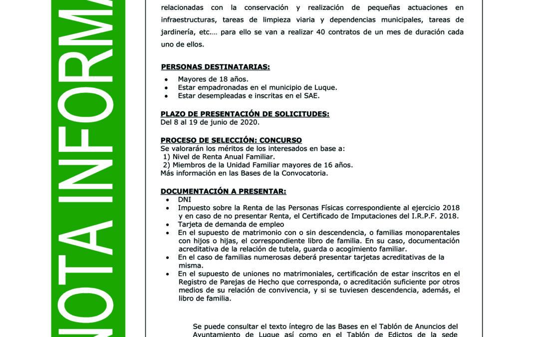 PLAN EXTRAORDINARIO DE EMPLEO POR COVID 19 1