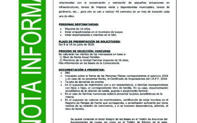 PLAN EXTRAORDINARIO DE EMPLEO POR COVID 19