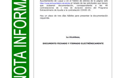 PROGRAMA EXTRAORDINARIO AYUDA A LA CONTRATACIÓN COVID-19