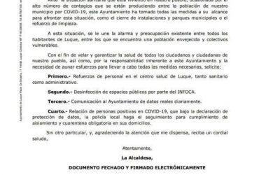 ENVÍO DE CARTAS INSTITUCIONALES