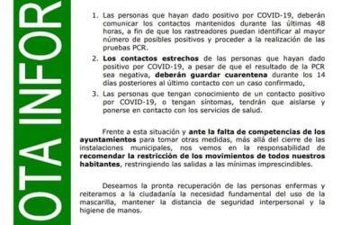 NOTA INFORMATIVA COVID 19 EN LUQUE