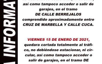 CORTE EN CALLE BERREJALOS