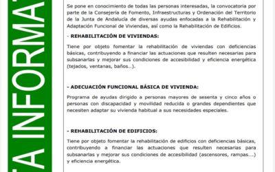 AYUDAS PARA REHABILITACIÓN DE VIVIENDAS