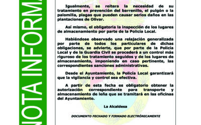 ENTRADA Y ALMACENAMIENTO DE LEÑA EN CASCO URBANO