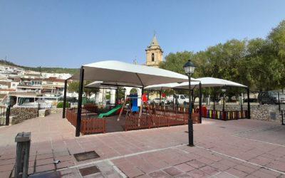FINALIZADAS LAS OBRAS DE CREACIÓN DE SOMBRAS EN LA PLAZA DE ESPAÑA